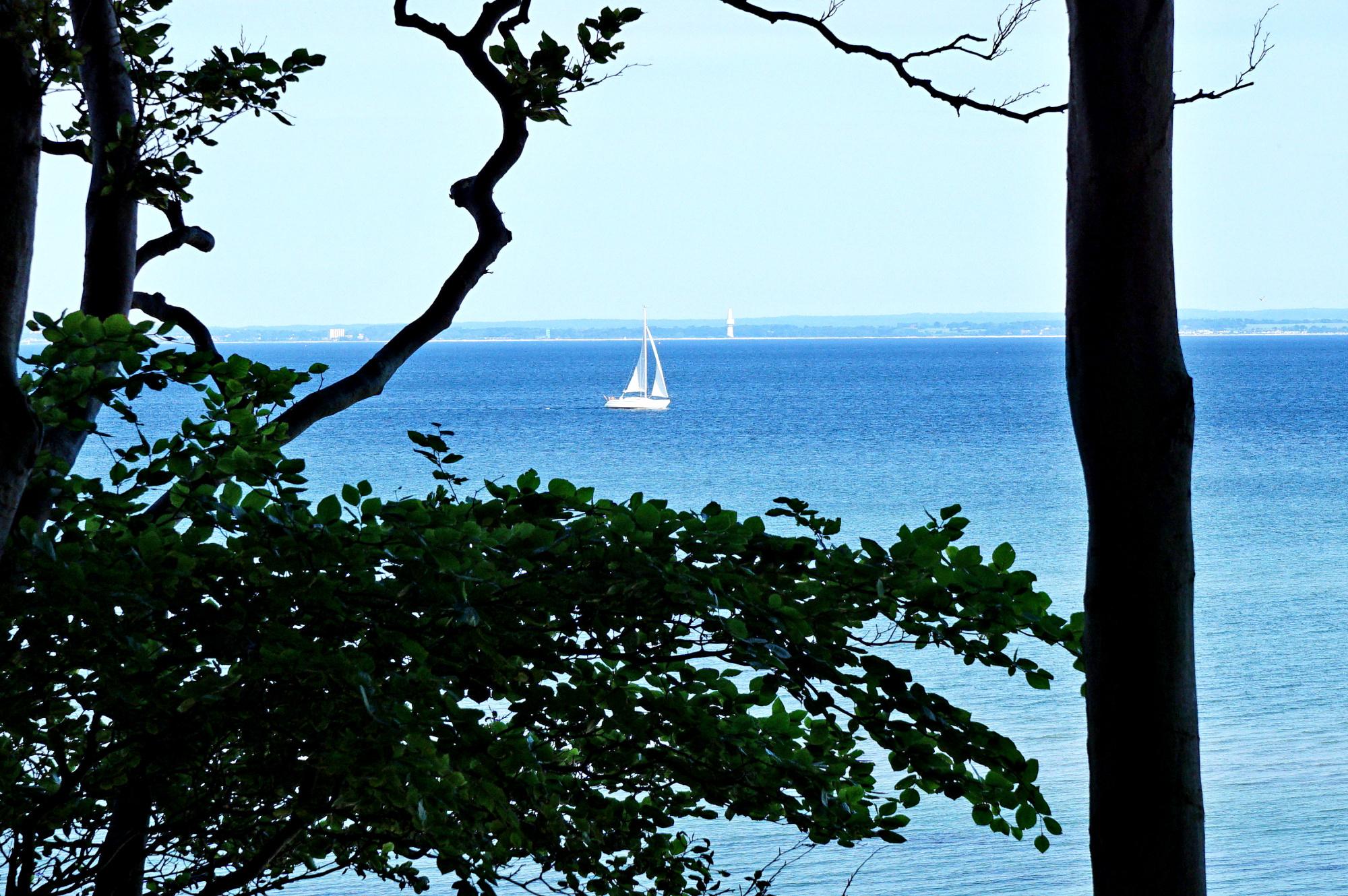 Toller Blick auf die Ostsee von der Brooker Höhe